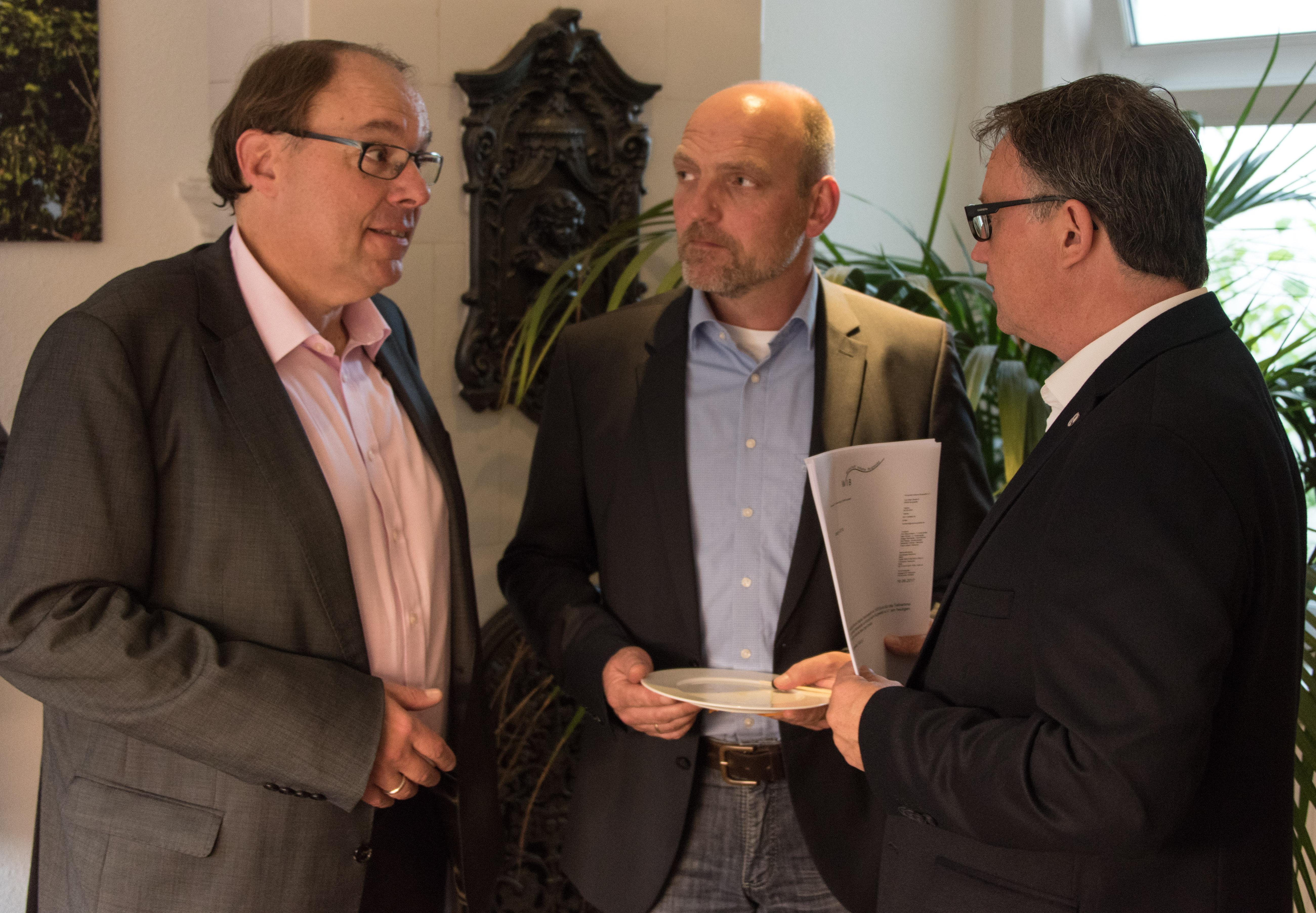 vl. Gregor Schneider, Uwe Haster, Frank Leibelt