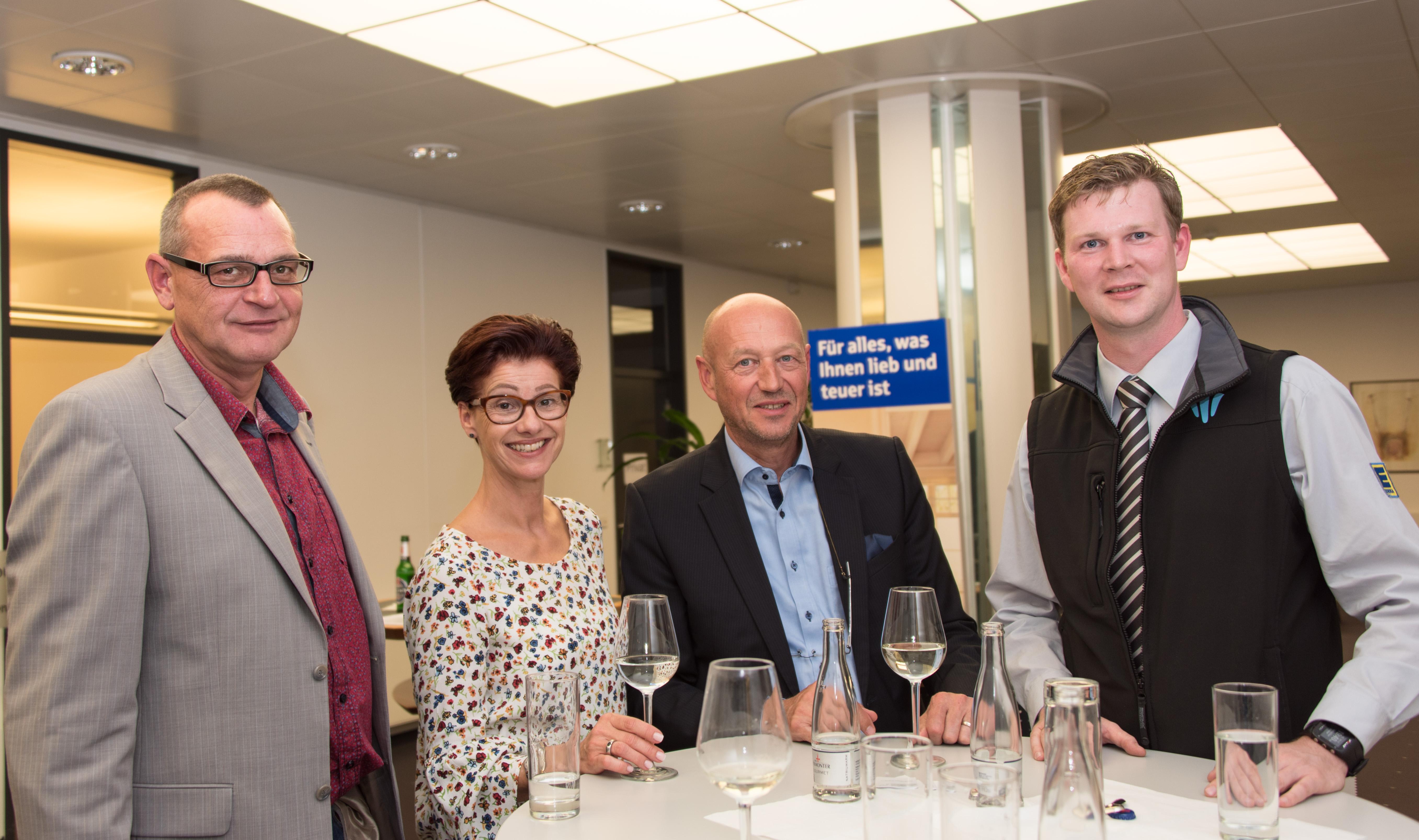 vl. Thorsten Heinrich, Petra Gehle, Rolf Gehle, Sebastian Cramer