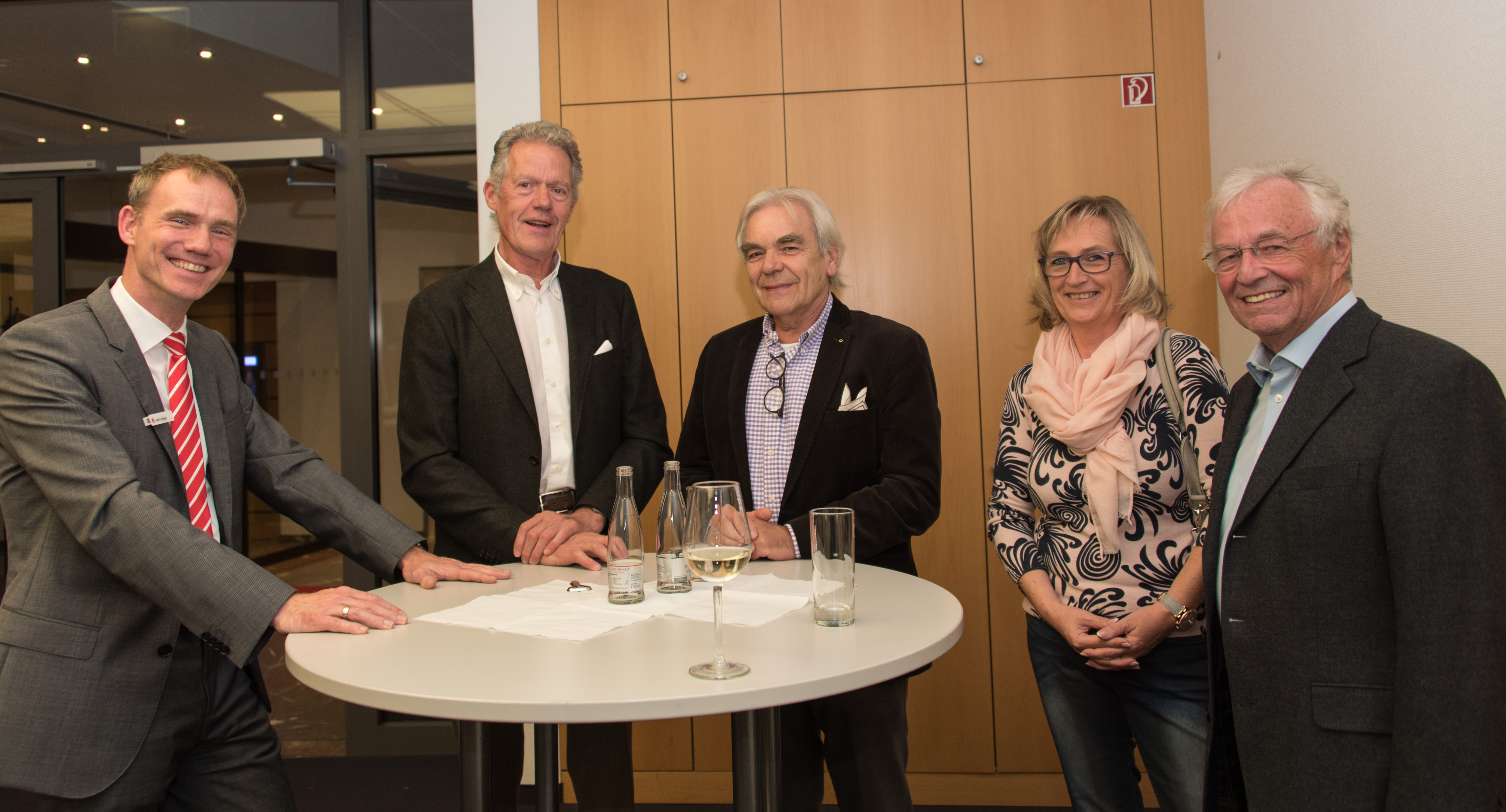 vl. Axel Lodyga, Gerd Sybrecht, Joachim Wegener, Gaby Keller, Rolf Range