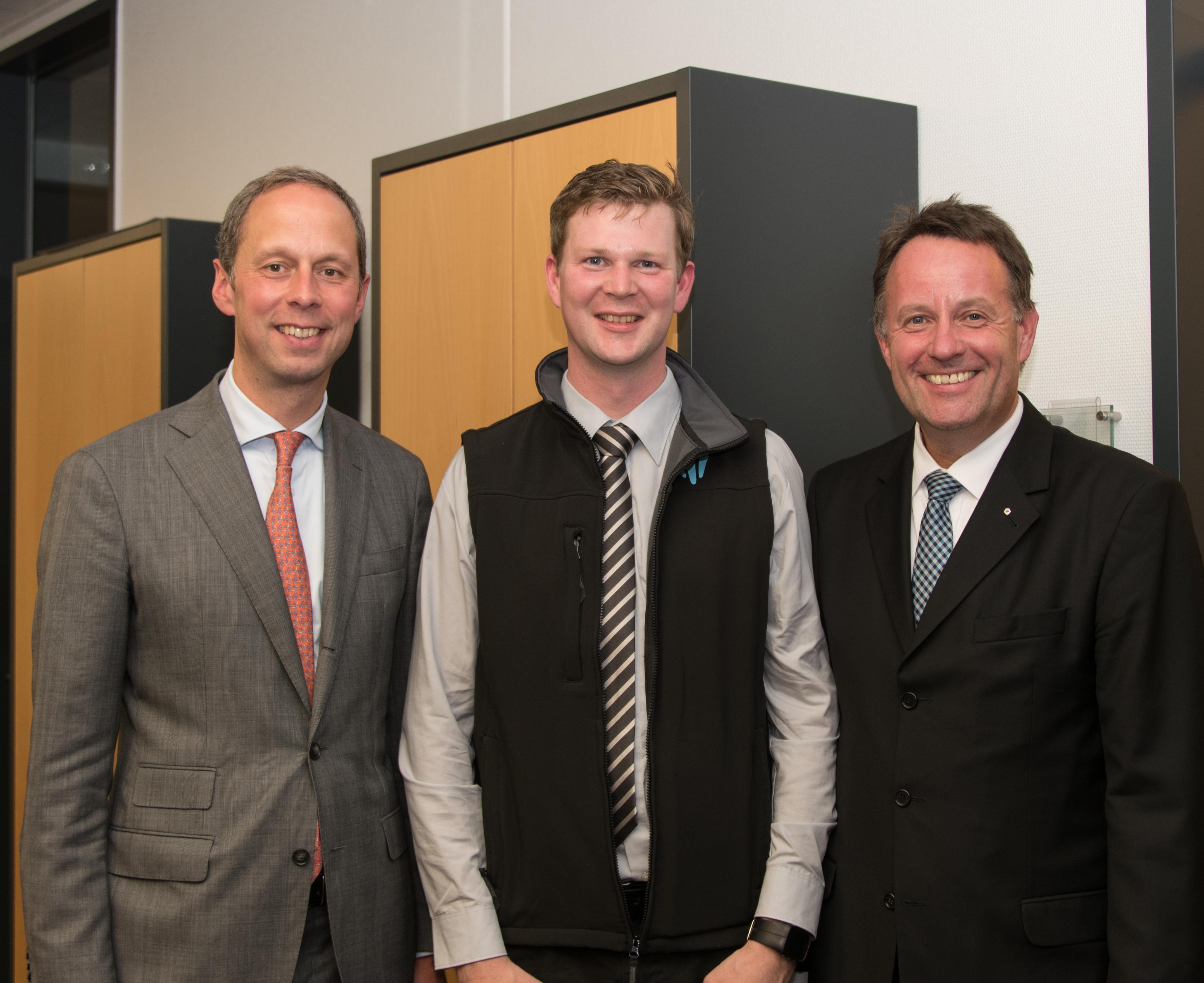 vl. Hendrik Hoppenstedt, Sebastian Cramer, Dirk Breuckmann