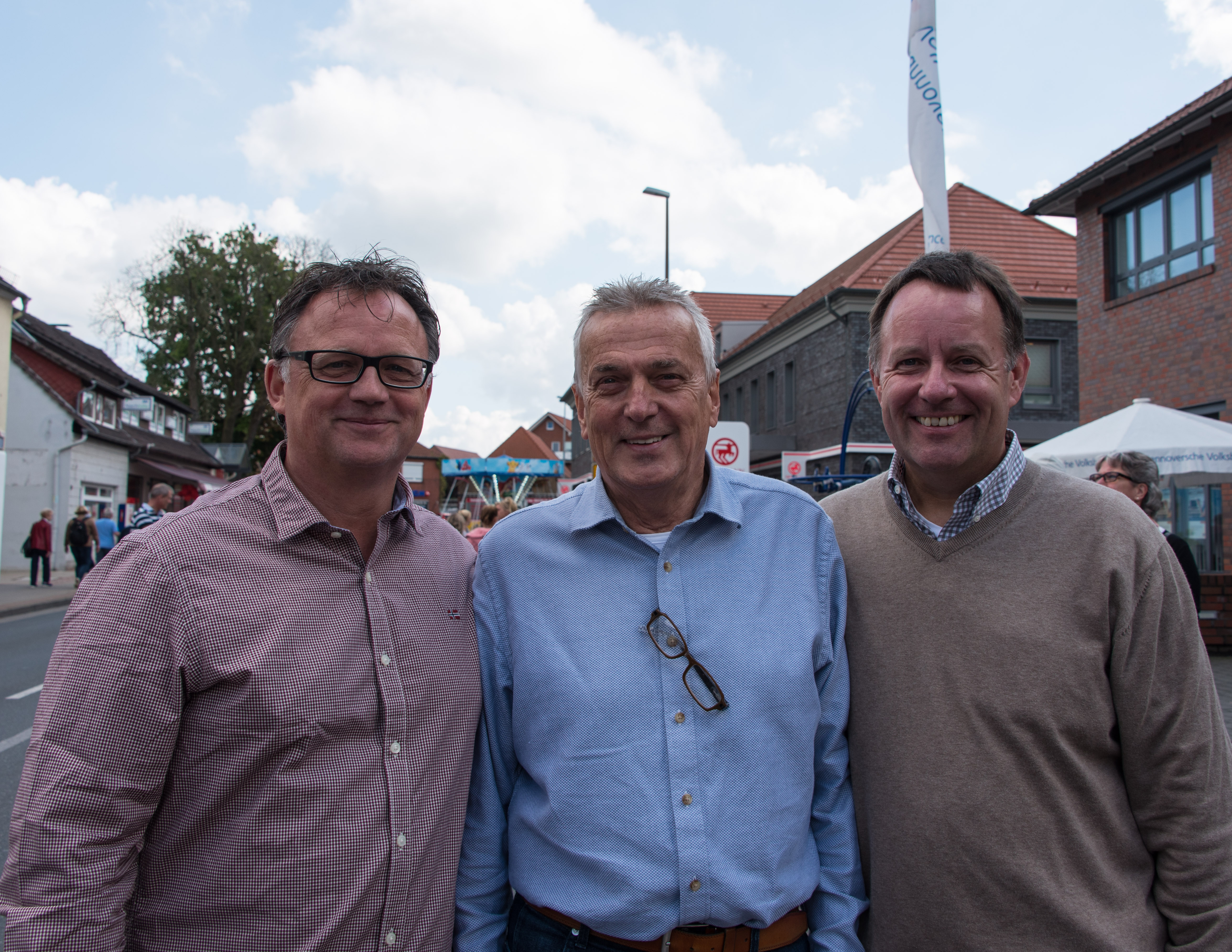 Frank Leibelt, Jürgen Werner, Dirk Breuckmann, (vl) Foto: Sabine Breuckmann