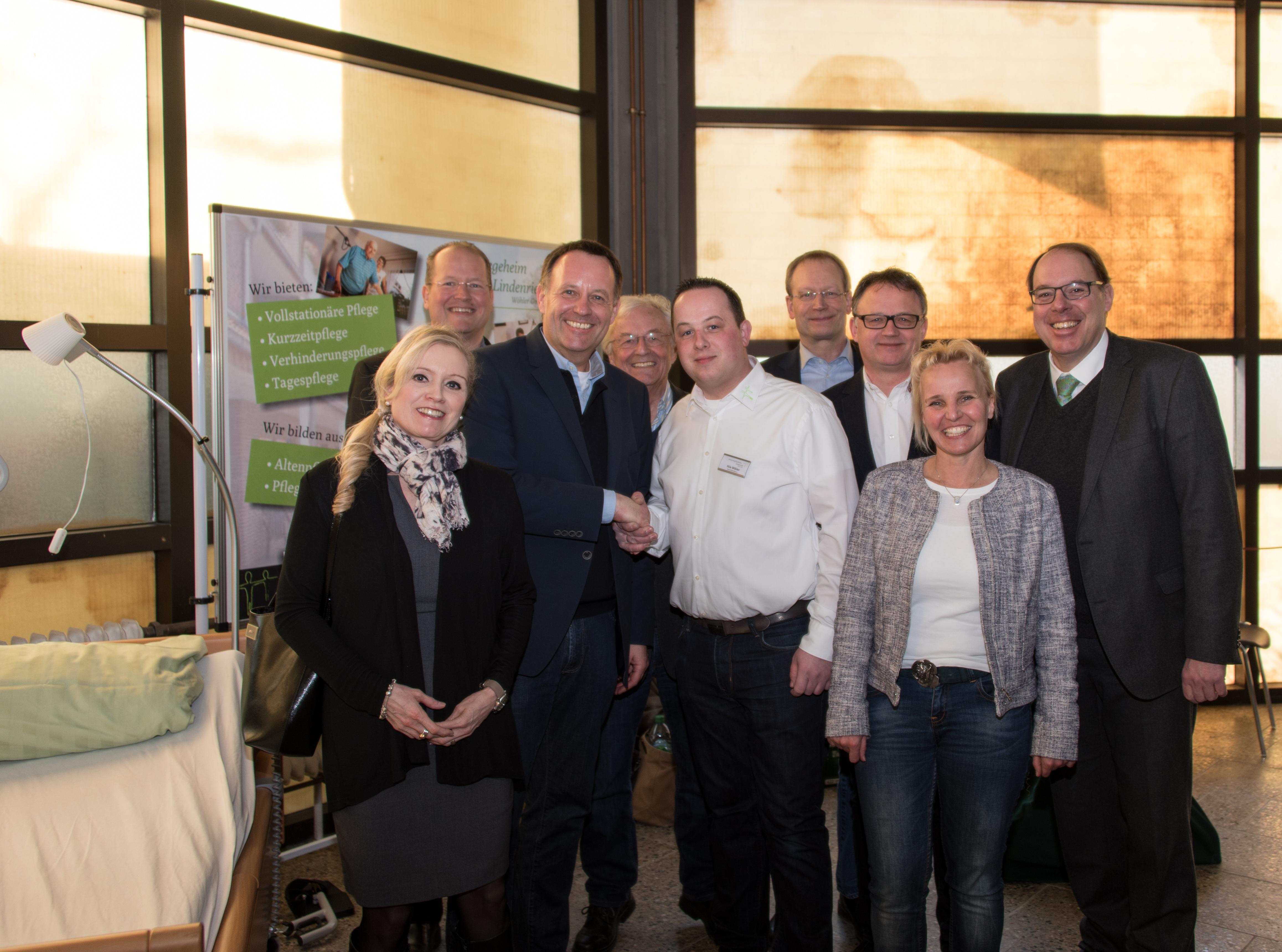 v.l. Sabine Breuckmann, Marc Sinner, Dirk Breuckmann, Rolf Range, Nils Wöhler, Rolf Fortmüller, Frank Leibelt, Bianca Rosenhagen, Gregor Schneider