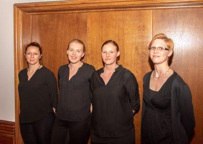 vl. Sabine Mercedes , Renata Schökel,  Nadine Lüloff , Dajana Keller