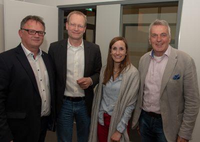 vl. Frank Leibbelt, Rolf Fortmüller, Judith Wäldle, Jürgen Werner