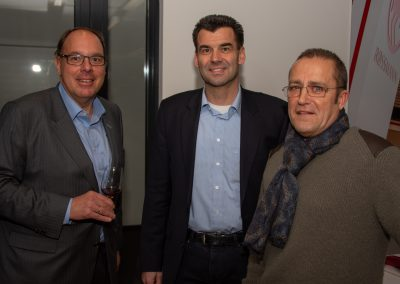 vl. Gregor Schneider, Peter Dreher, Burghard Mohr