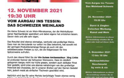 Wein & Sie präsentiert das Schweizer Weinland